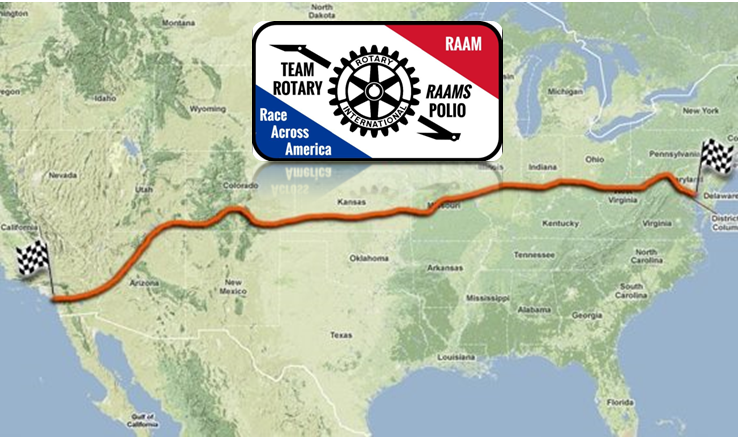 Race Map Of America.Wintertrainings To Support The Rotary Race Across America Team